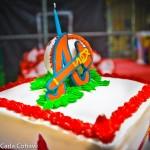 Baseball birthday party cake