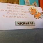 circus cookies, lion chocolate...