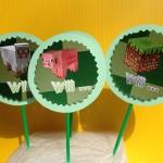 Mine craft birthday party captions