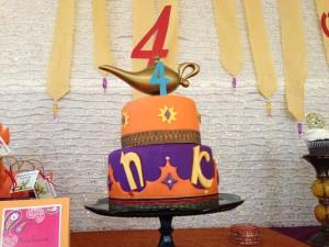 Arabian night kids birthday party cakes