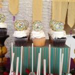 Arabian night kids birthday party cupcakes