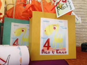 Arabian night kids birthday party cards