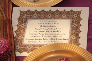 Arabian night kids birthday party banners