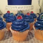 40th years birthday cupcakes decoration